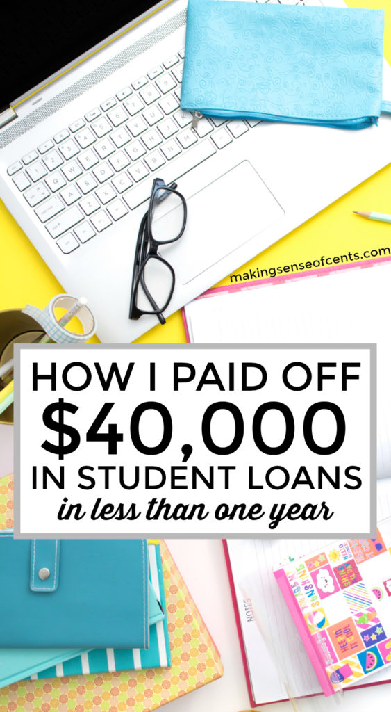 How I Paid Off $40,000 In Student Loans in 7 Months